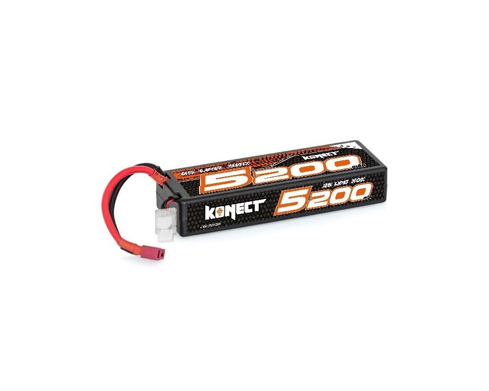 Batería Konect Lipo 5200mah 7.4V 50C 2S1P 38.4Wh (Slim Pack Dean )