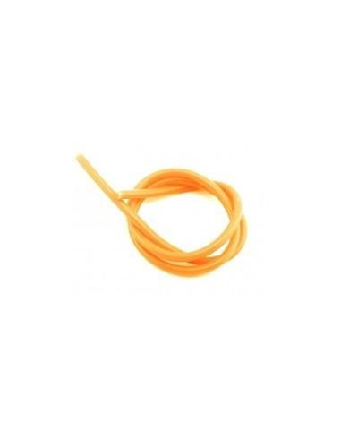 Tubo de silicona naranja 2x6 (1 metro)