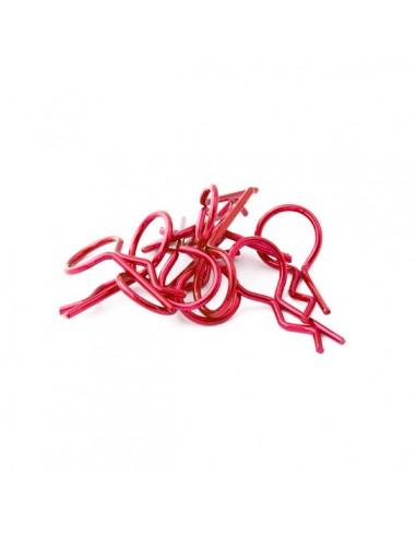 Universal 1/10 clips rojos carrocería...