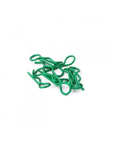 Universal 1/8 clips carrocería verdes...