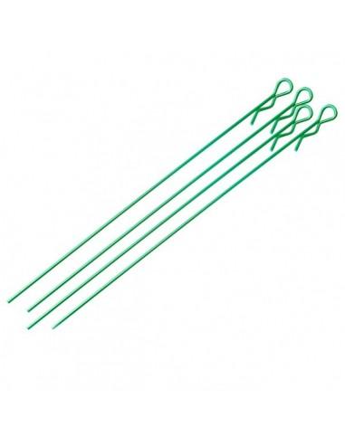 Clip carrocería largo verde (5 piezas)