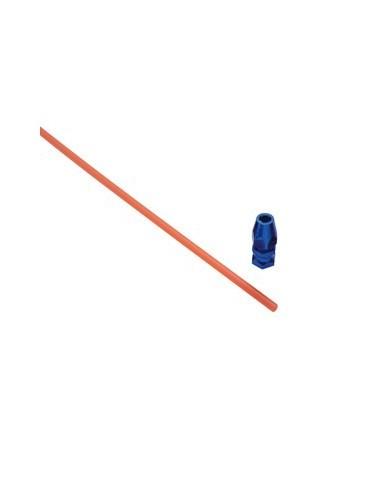 Antena con soporte de aluminio azul