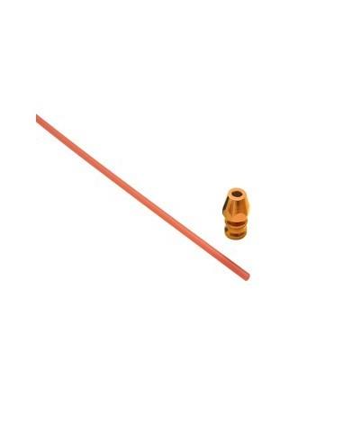 Antena con soporte de aluminio naranja