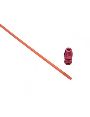 Antena con soporte de aluminio rojo