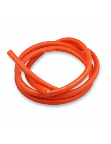 Cable silicona rojo 14 AWG 1m.