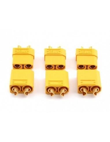 Conectores XT90-3 pares