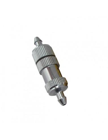 Filtro combustible aluminio gris