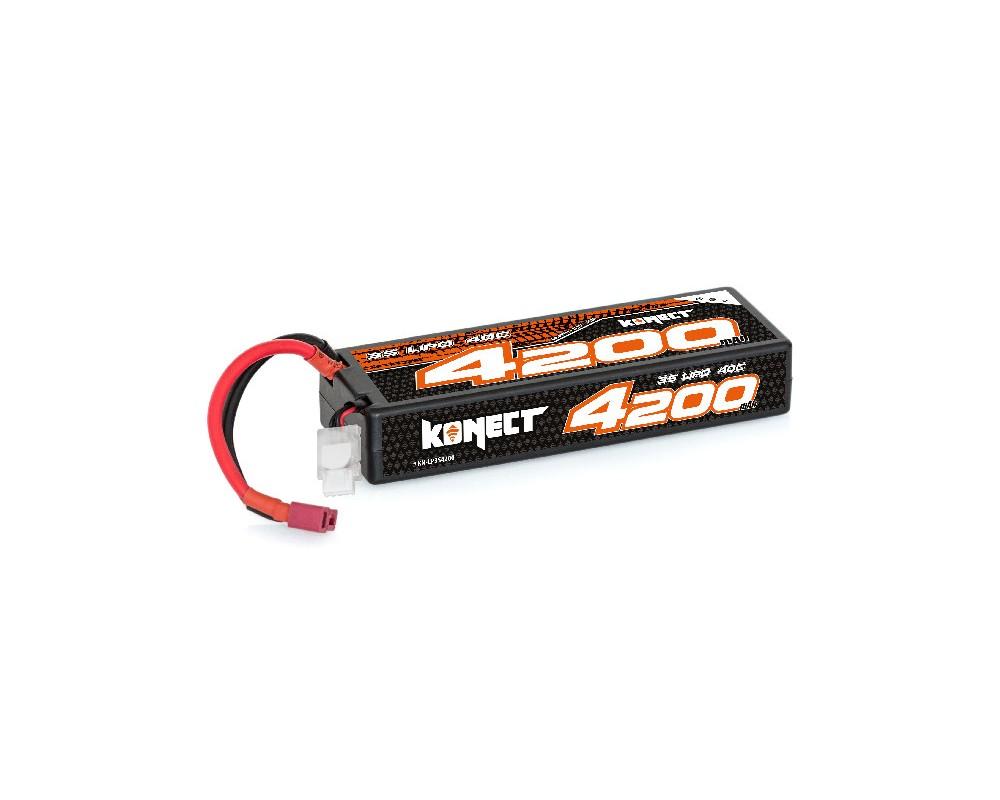 Konect Lipo 4200mah 11.1V 40C 3S1P 46.6Wh (Slim Pack Dean)