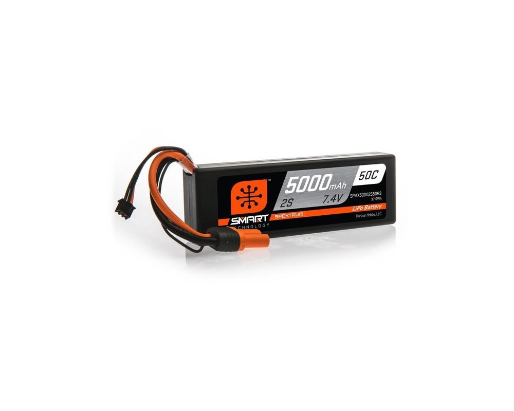 SMART LiPo 5000mAh 7.4V 2S 50C Hardcase IC3