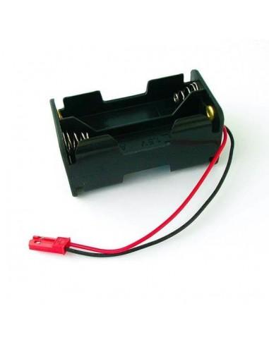 Portapilas AA con conector Bec